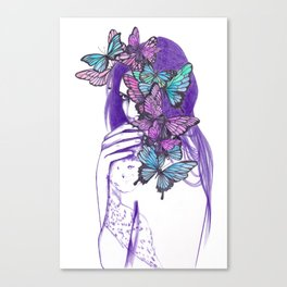 Amongst Butterflies Canvas Print