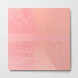 Pink Stripe Metal Print