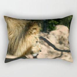 African Lion Rectangular Pillow