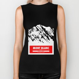 Mont Blanc France Alps Art Mountain climbing Biker Tank