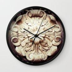 Wood Flower Wall Clock