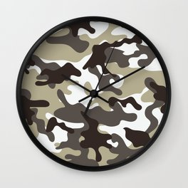 Urban Camo Camouflage Pattern Wall Clock