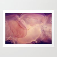 jelly fish Art Prints featuring jelly . fish by sara montour