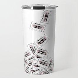 A pile of mixtapes Travel Mug