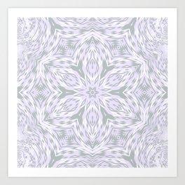 Lavender Snowflake Art Print