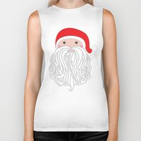 santa Biker Tanks featuring Santa by Doucette Designs