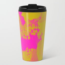 Neon Flowers Travel Mug