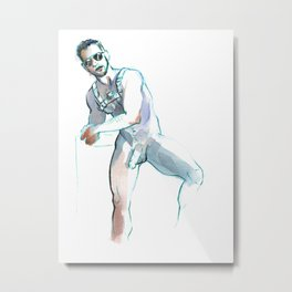 JESSE, Nude Male by Frank-Joseph Metal Print