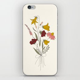 Wildflowers Bouquet iPhone Skin