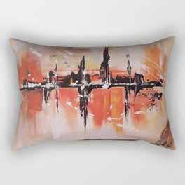City on fire Rectangular Pillow