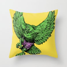 the incredible hawk Throw Pillow