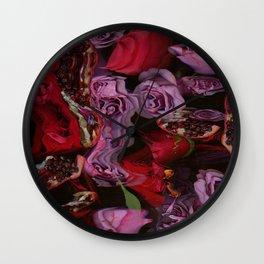 Roses and Pomegranates Wall Clock