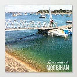 Morbihan Port Canvas Print
