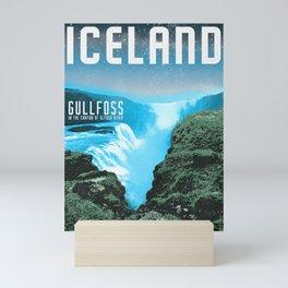 Iceland: Gullfoss Mini Art Print