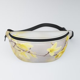 Yellow Forsythia Flower Photography, Yellow Floral Spring Art, Springtime Branches Photo Fanny Pack