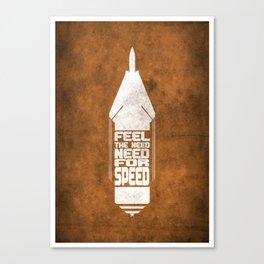 Movie Poster - Top gun Canvas Print