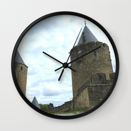 Curtain walls of the City of Carcassonne Wall Clock