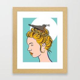 Birdbrain Framed Art Print