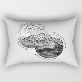 mountains-biffy clyro Rectangular Pillow