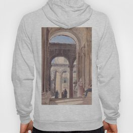 Ruins Of Diocletian At Spalato 1841 by Rudolf von Alt | Reproduction Hoody