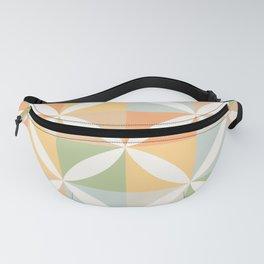 Vintage Geometric Pattern - Warm 70s Pastel Fanny Pack