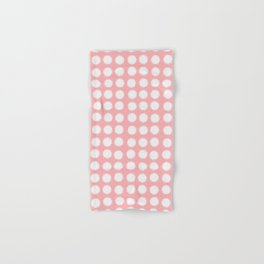 milk glass polka dots pink Hand & Bath Towel