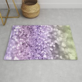 Purple Lavender Glitter #1 #shiny #decor #art #society6 Rug