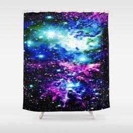 Fox Fur Nebula Dark & Vibrant Shower Curtain