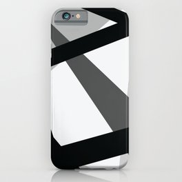 Abstract Grayscale Geometric Lines iPhone Case