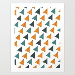 Origami Planes Art Print