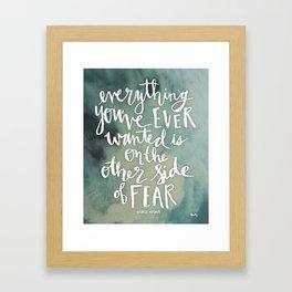 Other Side Of Fear Framed Art Print