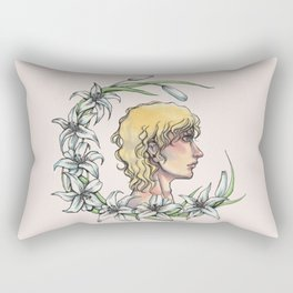 Enjolras and lilies Rectangular Pillow