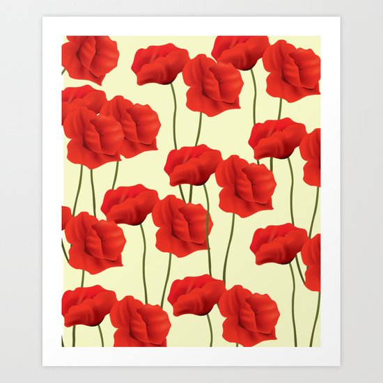 Red flowers #society6 Art Print