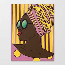 Woman in Pink And Yellow Canvas Print