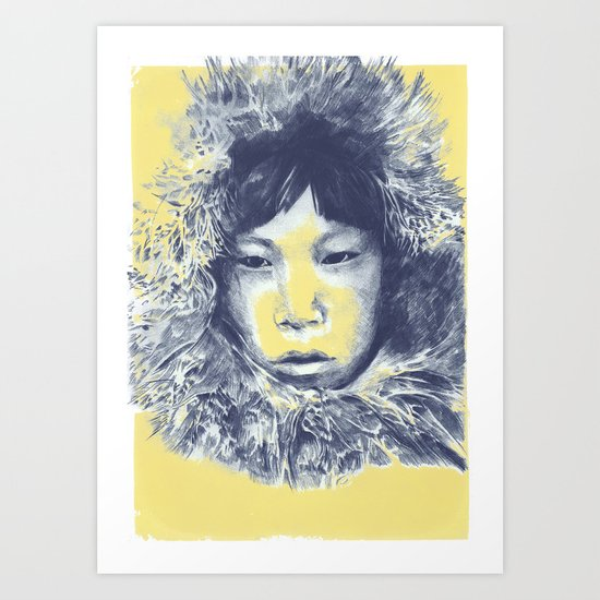Just before the war with the eskimos Art Print