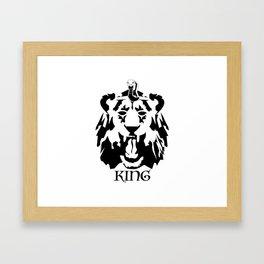 Royalty - Black on white Framed Art Print