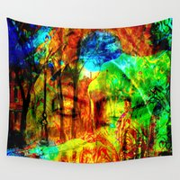 meditation Wall Tapestries featuring  Meditation by shiva camille