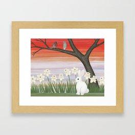psychedelic spring scene Framed Art Print