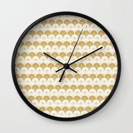 Beautiful Pattern #4 Golden Chrysanthemum Wall Clock