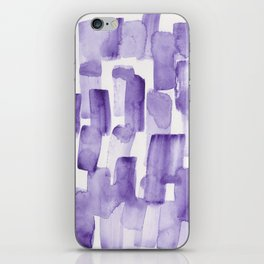 Purple Watercolour Patterns | 190129 Abstract Art Watercolour iPhone Skin