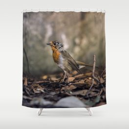A careful look Shower Curtain