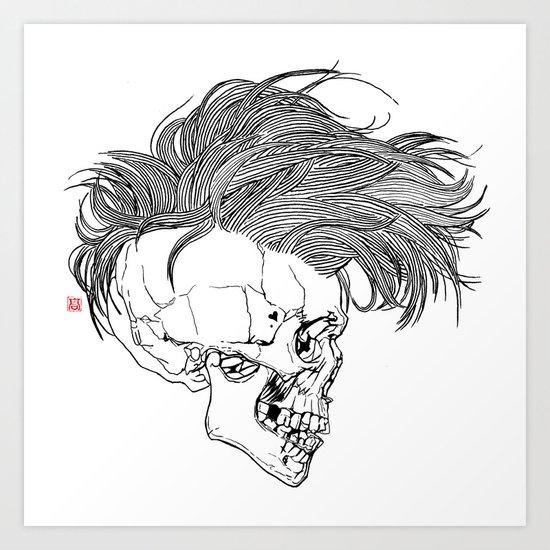 Death is New Punk Art Print