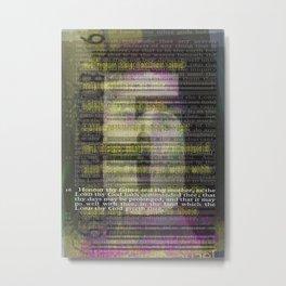 5 Metal Print