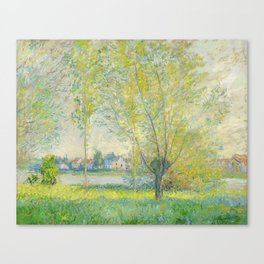 The Willows (1880) by Claude Monet Canvas Print