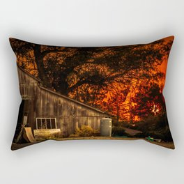 Red sunset in rural California Rectangular Pillow
