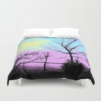 fog Duvet Covers featuring Fog by DesignsByMarly