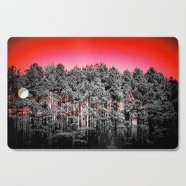 Gray Trees Candy Apple red Sky Cutting Board