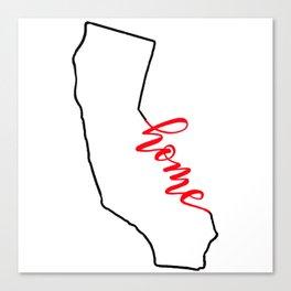 Home Sweet Home - California Canvas Print