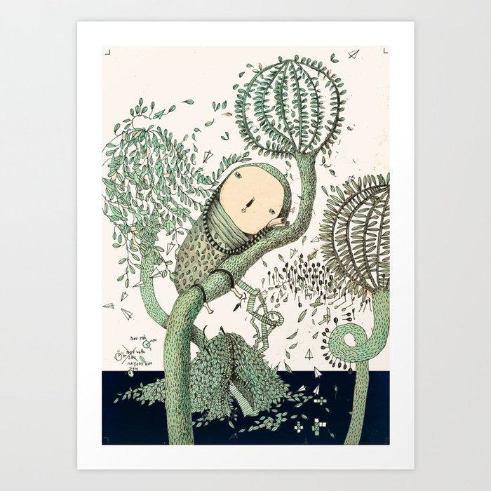 My Green Memory Art Print