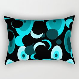 black and blue planets and moons Rectangular Pillow